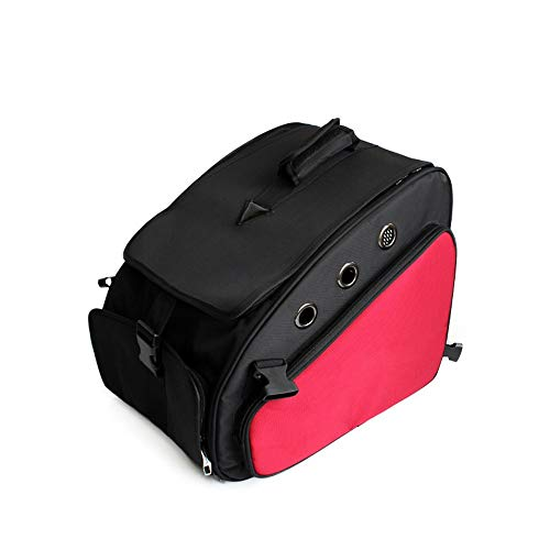 (HYUE Pet Backpack Car Pet Dog Bag Cat Bag Foldaway Pet Dependable Out Portable Breathable Pet Bag (Color : Red))