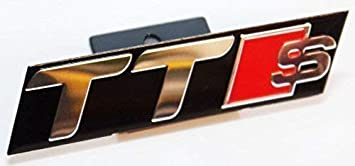 Chrome Black Red S Line Front Grill Badge Emblem For Slated Grill Types