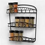 Spectrum 92310CAT twist wall mount spice rack - Black
