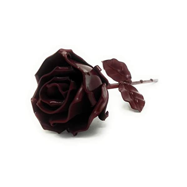 Eternal Rose of Wrought Iron Red – Hand forged