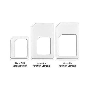 adaptateur carte nano sim High Tech Nano adaptateur de cartes SIM Noir ou Blanc Cartes sim