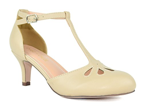 Mid Dress Chase Out Kimmy Teardrop Women's Nude amp; Low strap 36 Cut Pu Heel T Pumps Chloe fqxrvfc7