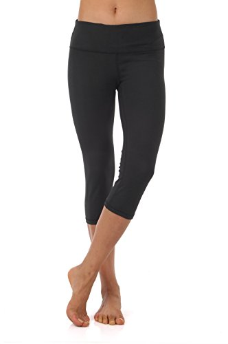 Best buy ZEROGSC Women' Yoga Pants - Workout Running Tummy Control Stretch Power Flex Long/Capris Leggings (YPW102-Black-Medium)