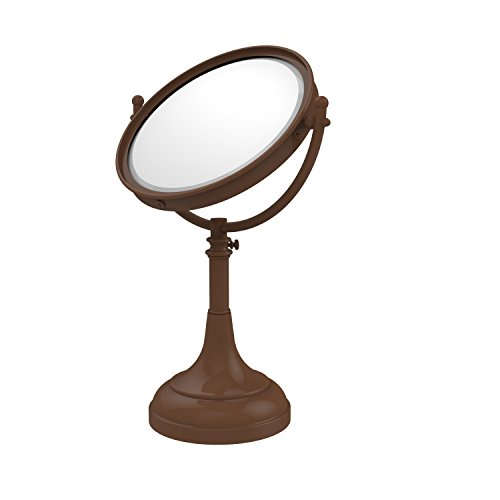 Allied Brass DM-1/4X-ABZ 8-Inch Table Mirror with 4x Magnification, Antique Bronze ()