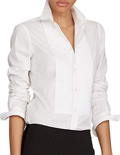 - Ralph Lauren Polo Broadcloth Cotton Tuxedo Shirt White 12