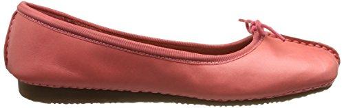 Clarks Freckle Ice - Bailarinas de cuero para mujer multicolor multicolor Rosa (Coral Leather)
