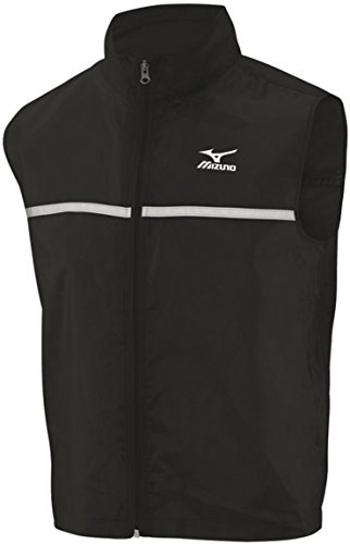 Mizuno Reflective Mens Running Gilet - Black-XL