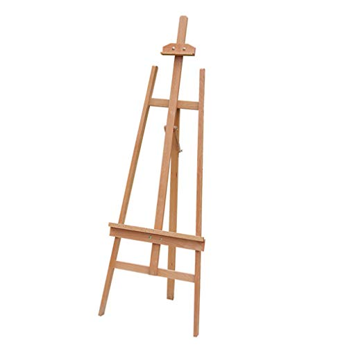 (XNYY BABY Beech Wood Vertical Side Back Folding Easel Wooden Sketch Easel Solid Wood Advertising Easel Display Stand Used by Students and Artists (Color : Wood, Size : One Size))