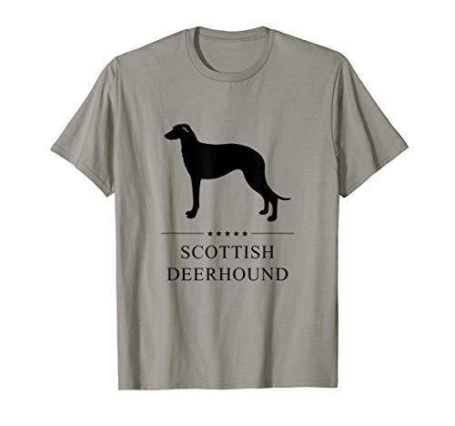(Scottish Deerhound Shirt: Black Silhouette)