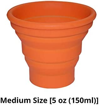 Ecoart Silicone Collapsible Travel Cup for Outdoor Camping and Hiking (1 Pack)