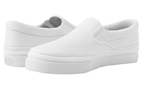 ZIPZ Unisex Casual Canvas Slip On Interchangeable Sneakers Skate Tennis Shoes Whiteout zUfUE