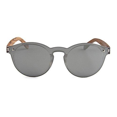Silver pour bois de KOMEISHO TAC lentille lunettes hommes Marron Couleur adulte Unisexe protection soleil UV coloré femmes style polarisées une pièce 4EEwR