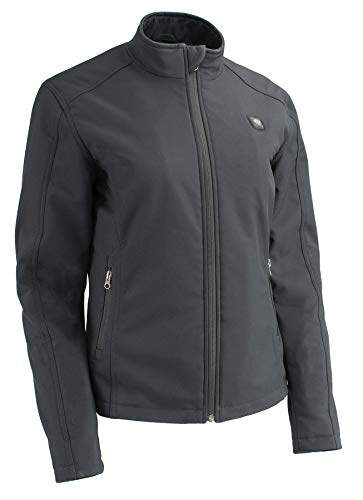 Milwaukee Performance-Women Zipper Front Heated Soft Shell Jacket w/Front & Back Heating Elements and portable battery pack included-BLACK-LG-2760