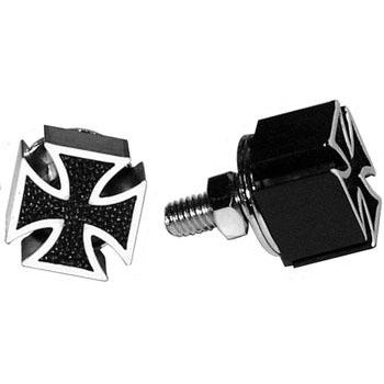 Iron cross license plate bolts (pair) (Cover Iron Cross)