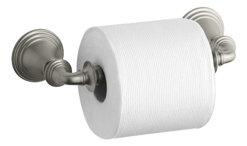 KOHLER K-10554-BN Devonshire Toilet Tissue Holder, Double Post, Vibrant Brushed Nickel by Kohler