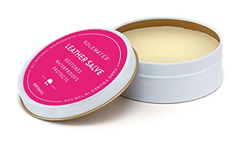 Leather Shoes Handbag Protectant Cream - Solemates Waterproof Leather Salve - All Natural Ingredients - Safe for Leather and Skin- Hand Poured in USA - 4 oz. (118mL)