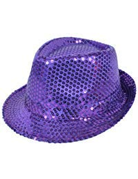 Colorful Sequined Fedora Hat -