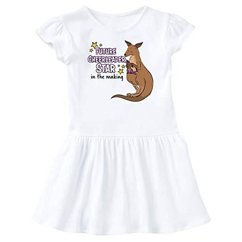 inktastic - Future Cheerleader Star in The Infant Dress 24 Months White 3551c
