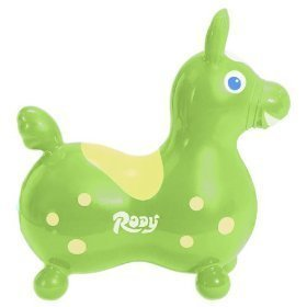 Rody the Horse Child's Bounce and Ride, Lime Green