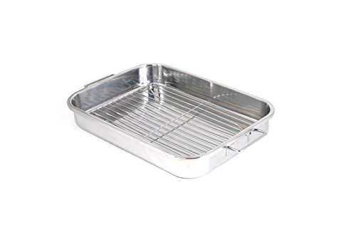 durable stainless steel 2 baking tray grill deep lasagna. Black Bedroom Furniture Sets. Home Design Ideas