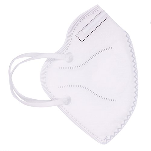 Muryobao Mouth Mask Anti Pollution Mask Unisex Outdoor Protection N95 4 Layer Filter Insert Anti Dust Mask Valve Filter Men Women 5 Pack White Upgrade by Muryobao (Image #1)