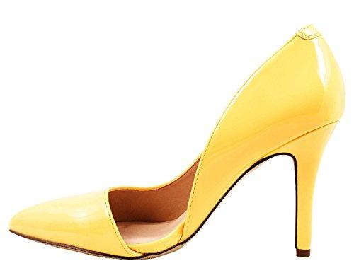 Elara - Pantuflas de caña alta Mujer amarillo
