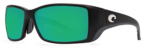 Costa Del Mar Blackfin Sunglasses Matte Black Global Fit/Green Mirror - Costa Blackfin