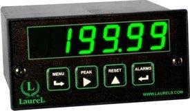 Laurel Electronics L11004RMA3 AC RMS Current Meter 10-48 Vdc Power Green LED Digits RS485 Data I//O 200.00 mA Range