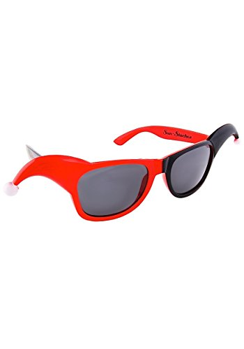 Harley Quinn Glasses (Sunstaches DC Comics Harley Quinn Dark Lens Sunglasses, Party Favors,)