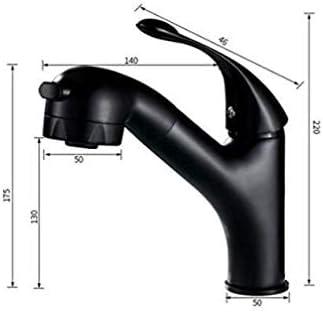HXC-HXC 流域の蛇口Pull型蛇口流域ホット&コールド単穴流域の蛇口ブラックシャンプー蛇口を有するノズルステンレス鋼の浴室用タップ 蛇口