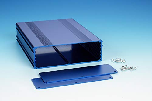B4-220BL: Blue Anodized, Extruded Aluminum Electronic Enclosure Project Box Electronic DIY Case, size 8.66