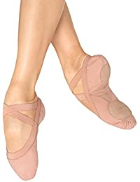 Dance Women's Pro Elastic Split Sole Canvas Ballet Slipper/Shoe