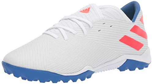 adidas Men's Nemeziz Messi 19.3 Turf Soccer Shoe, White/Solar Red/Football Blue, 7 M US