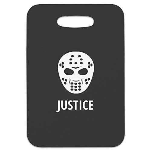 Hockey Mask Justice Bag Tag: Rectangular Luggage Tag