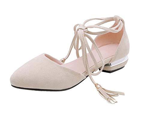 Correas 2019 Beige Del Nueva Casual 43 Zapatos 31 Primavera Glter Mujeres Bajo Cruz Tamaño Sandalias Verano Pie Cerradas Tacón Dedo xqcAYwBP
