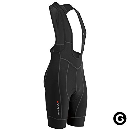 Louis Garneau Men's Fit Sensor 2 Cycling Bib, Padded and Breathable Compression Bike Shorts, Black, X-Large
