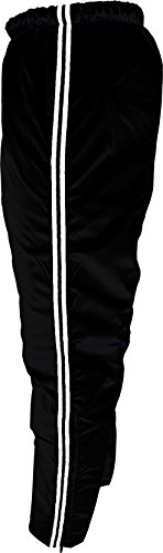 In Play Sportswear Nylon Insulated Pants (L-28, Black with White/Black/White ()