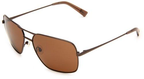 7 For All Mankind Fernanado Rectangle Sunglasses,Brown Frame/Brown Lens,One - 7 Frames All For Mankind