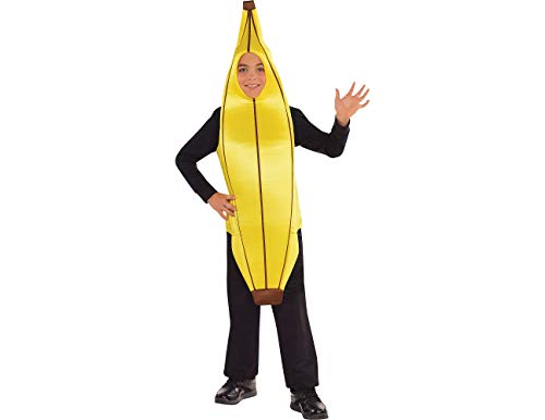 AMSCAN Going Banana Halloween Costume for Boys, Standard, with Armholes -