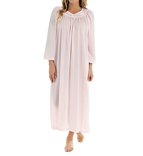 Unmentionables Petals Long Sleeve Embroidered Yoke Gown (6299) 3X/Pink