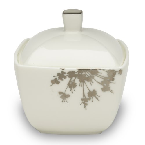 Mikasa Floral Silhouette Sugar Bowl with Lid