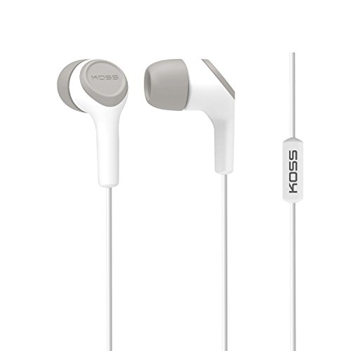 Koss KEB15i In-Ear Headphones - Stereo - White - Mini-phone