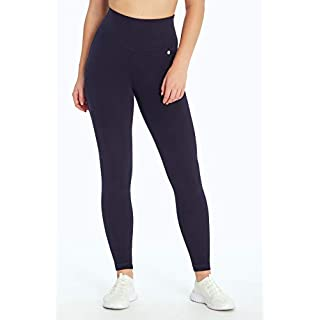 Bally Total Fitness Mid Rise Tummy Control Legging, Midnight Blue, Small