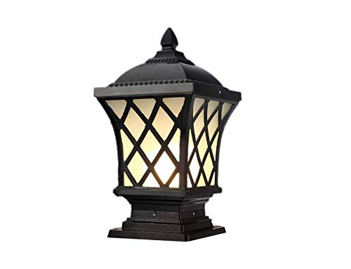 - Retro Outdoor Garden Lights Lawn Lights Waterproof Lamps Villa Decor Park Hotel Simple Square Column Lamp European Landscape Lights Lawn Outdoor Post Pillar Lantern Light (Size : Height 38cm)