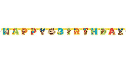 Unique Curious George Large Jointed Banner Birthday Party Supplies -