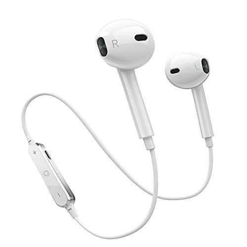 Bluetooth Headphones In Ear Wireless Earbuds 4.2 Sweat proof Stereo Bluetooth Earphones for Sports With Mic,Compatible iPhone X/8/7/ 7 plus/ 6/ 6s plus and Samsung Galaxy S8 S7 and Android Phones by Amuoc