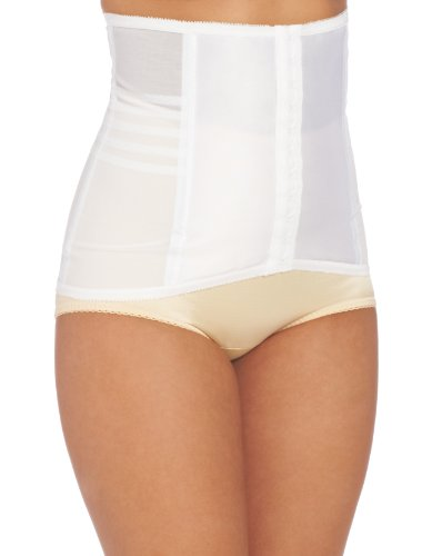 Rago Women's Waist Trainer, White, Medium (28)