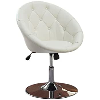 Captivating Coaster 7060 Round Back Swivel Chair, Hydraulic Lift U0026 Tilt Tension  White