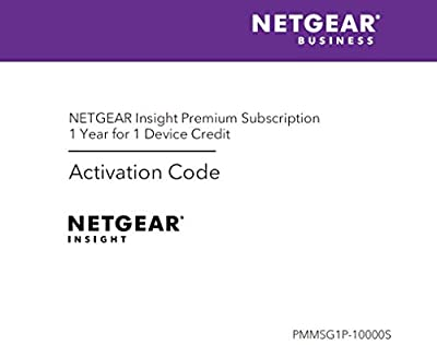 NETGEAR Insight Premium Activation Code for NETGEAR Insight Hardware, 1 Credit for 1 Device (PMMSG1P)