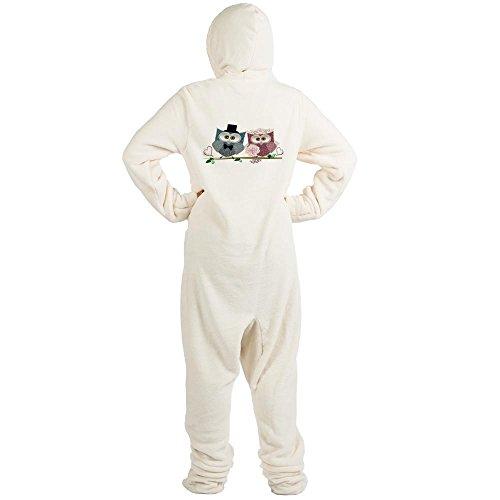 CafePress - Wedding Owls Art - Novelty Footed Pajamas, Funny Adult One-Piece PJ Sleepwear ()